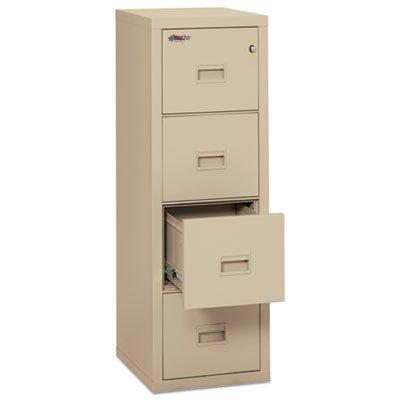FireKing 4R1822-CPA Turtle Fireproof File Cabinet, 52.75'' H x 17.75'' W x 22.13'' D, Parchment by FireKing