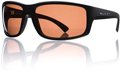 Bucci Sunglasses Torch Black Matte Polycarbonate Polarized (Rose Polarized ()