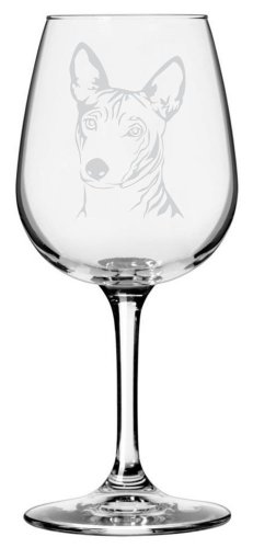 Basenji Dog Themed Etched All Purpose 12.75oz Libbey Wine Glass