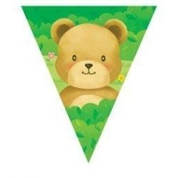 Teddy Bears Picnic Flag Banner by Party Bits by partybits