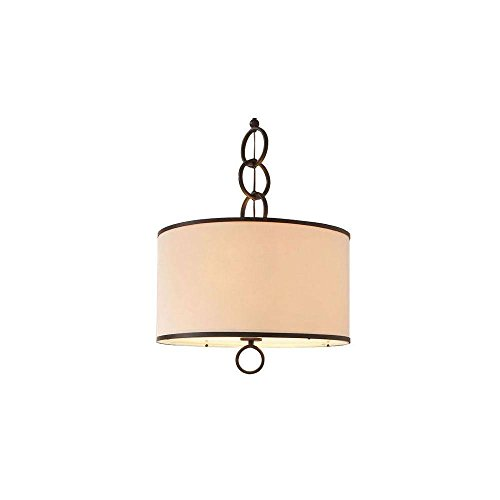 3 Light Pendant Drum Shade - 1
