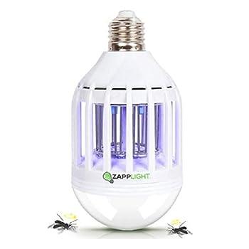 Zapplight -Dual Bombilla LED y Bug Light Zapper, Zap Mosquitos, Moscas, Avispas, Seguridad, Químicos Libre, Iluminación de interior / exterior, Luz LED y Flying Insect Killer Focos Focos LED Hogar y Cocina Iluminación