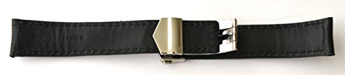 20mm Black watch Band Strap w/Clasp replacement TAG Heuer by EZwatchshop (Image #3)
