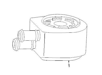 Amazon Com Ford F85z 6a642 Ab Engine Oil Cooler Automotive