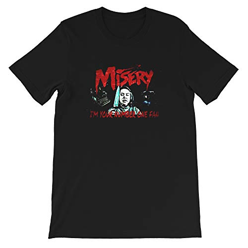 I'm Your Number One Fan PhotoStephen King Misery Typewriter Movie Funny Gift for Men Women Girls Unisex T-Shirt (Black-S) (Call Someone From A Different Number App)