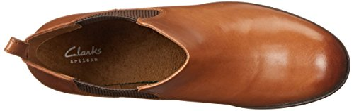 Clarks Women's Pita Sedona Chelsea Boot Dark Tan Leather 100% authentic online fast delivery sale online cheap price discount authentic tumblr for sale cSyTd8b
