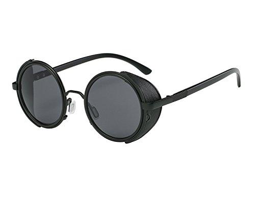 BVAGSS Retro Hippie Steampunk Sunglasses Men Women Round Sun Glass WS060