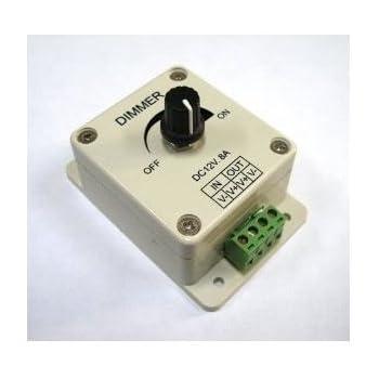 pwm dimming controller for led lights or ribbon 12 volt 8 amp adjustable brightness light. Black Bedroom Furniture Sets. Home Design Ideas