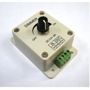 Pwm Dimmer (BestLED PWM Dimming Controller for LED Lights, Ribbon, Strip, 12 - 24 Volt (12V - 24V) 8 Amp, Electrical Dimmer Switches for Home, Commercial, Industrial, and Office. Dimmer is compatible with Hilight, LEDwholesaler, fillite, and others' strips)