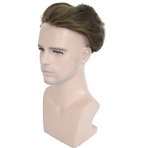 Amazon.com : European Virgin Human Hair Toupee For Men With Soft Thin Skin Cap Base, Veer 10