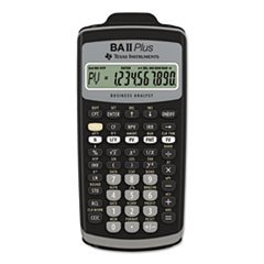 Texas Instruments BAIIPlus Financial Calculator, 10-Digit LC