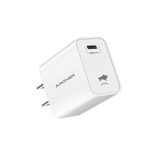 USB C Charger, Amoner 18W PD 3.0 Type-C Fast Charging Adapter Compatible with iPhone 11/11Pro/11 Pro Max/Xs Max/XR/X/ 8 Plus, iPad Pro, Google Pixel 3a/ XL, Galaxy S10+/ S9+, LG V50