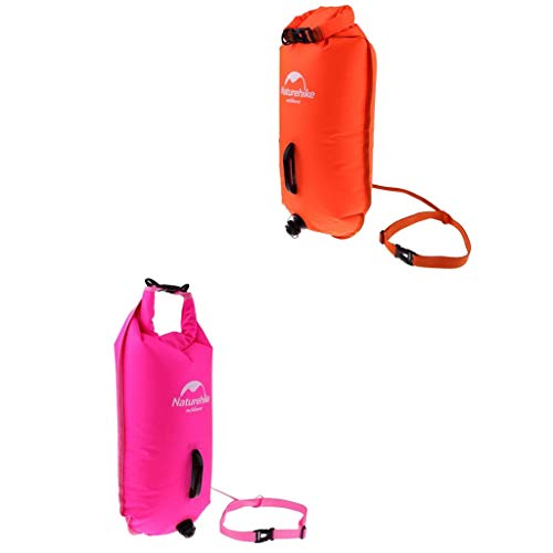 CUTICATE 2pcs 28L Waterproof Dry Bag, Ultralight Swim Buoy and Safety Float for Open Water Swimming, Surfing, Beach