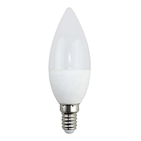 Bombilla LED Vela C37 E14 5W, 4500 Color Opal Iluminacion de Techo Interior 420 LM Ahorro 80% Encendido Instantaneo Envio Gratis a Partir de 30 Euros ...