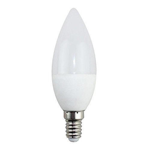 Bombilla LED Vela C37 E14 3W Regulable, 3200 Color Opal Iluminacion de Techo Interior 260