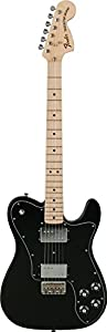 Fender Classic Series 72 Telecaster Deluxe Electric Guitar, Maple Fingerboard - Black