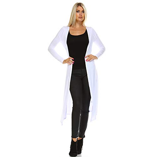 Issac Liev Isaac Liev Trendy Extra Long Duster Soft Lightweight Cardigan - Made in The USA