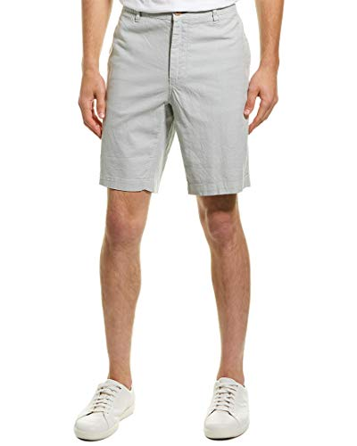 - Tailor Vintage Mens Greenwich Slim Fit Linen-Blend Short, 38, Grey