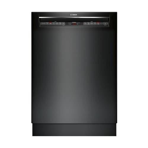 Bosch 800 Series 24 Inch Built In Full Console Dishwasher with 6 Wash Cycles in Black