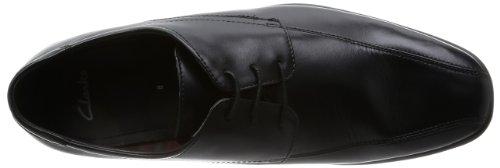Clarks Gadwell Over 20355018 Herren Oxfords Schwarz (Black Leather)