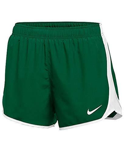 Nike Dry Tempo Short (Dark Green/White/White/(White), Large) (Nike Dark Green Shorts Women)