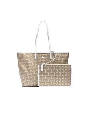 Lacoste Shopping Bag JumpsuitGraphic Beige Femme Multicolore