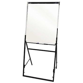 quartet futura easel whiteboardflipchart 24 x 36 inches black frame