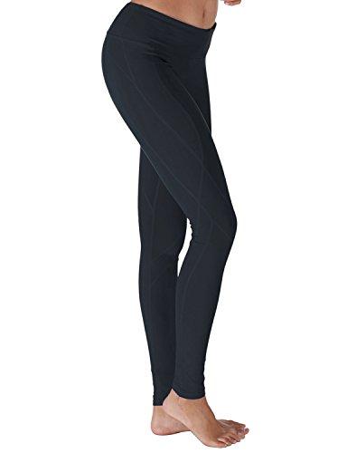 Yoga Reflex Women's Yoga Pants - Stitched Bottom - Hidden Pocket, NAVY, L