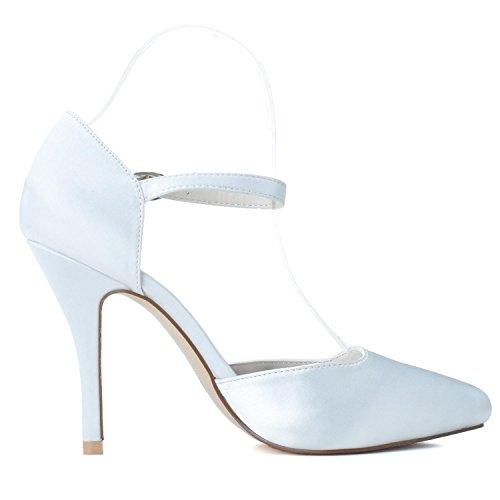 Chaussures De Custom Femmes 27 0255 Boucle L High De De Haut white Mariage Platform YC Mariage Round Gamme Comfort Heels q6wp5I