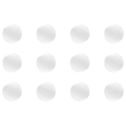 White Shank Button - ButtonMode Fabric Covered Satin Trim Buttons with Metal Shank Back includes 1-Dozen Buttons measuring 12mm (1/2 Inch), White, 12-Buttons