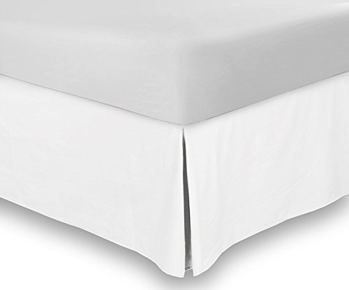 Bed Skirt Hotel Quality, Iron Easy, Quadruple Pleated , Wrinkle and Fade Resistant - by Utopia Bedding (Twin, White)