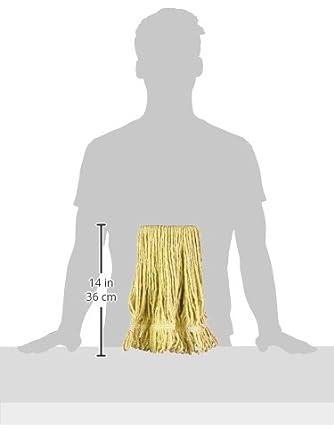 Small 6-Pack Basics Loop-End Synthetic Mop Head Green 5-Inch Headband