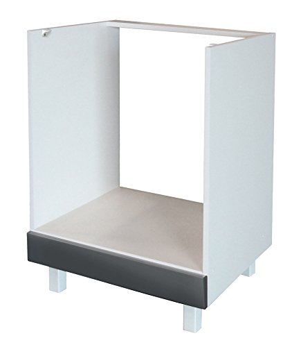 Berlenus CF6BG - Base componibile Cucina per Forno ad Incasso, da 60 cm,  Colore: Grigio superbrillante