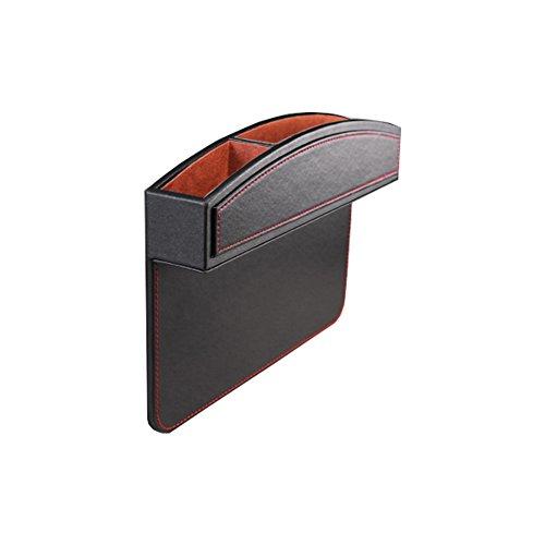 Meijunter PU Leather Accessorie Console Slit Catcher Gap Filler Storage Box Case for Car Seat Side