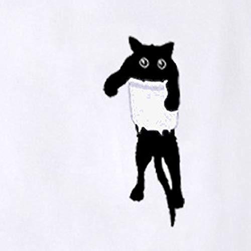 Ragazza Camicetta Bianco Camicette Pullover Tops Tumblr Camicie Felpa Stampa VICGREY Casual Autunno Manica Gatto Donne Camicia Felpa Lunga EqcwxHp4B