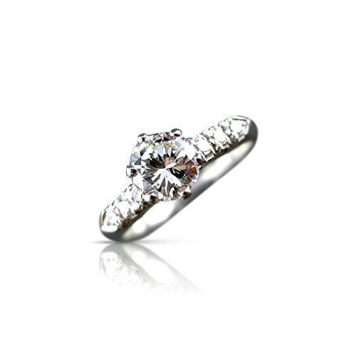 Milano Jewelers .81CT OLD MINE DIAMOND SOLITAIRE PLATINUM ENGAGEMENT RING FG VVS #21014 -