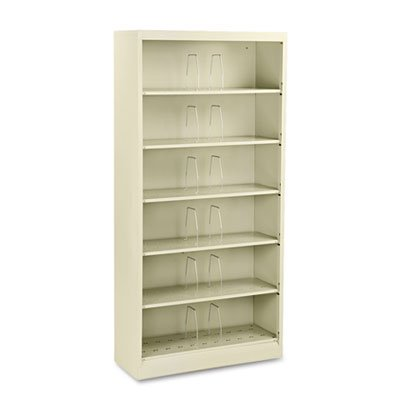 HON Products - HON - Brigade 600 Open Shelving, Steel 6-Shelf, Letter, 36w x 13-3/4d x 75-7/8h, Putty - Sold As 1 Each - Ideal for high-volume, long term filing. - End-tab filing format provides easy access to information. - Double-walled, heavy-gauge steel construction. - One six-shelf unit offers file capacity equal to eight 30amp;quot; wide lateral file drawers. - Six fixed shelves.