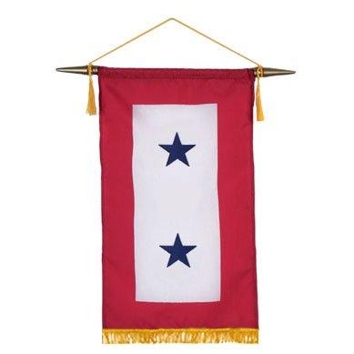 Blue Star Service Banner 8X12 Inch 2 Star