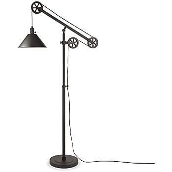 Turnbuckle Industrial Downbridge Floor Lamp Led Oil Rubbed