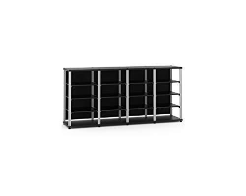 Salamander Synergy Quad 40 - Core Module (Black/Aluminum) Quad AV Cabinet