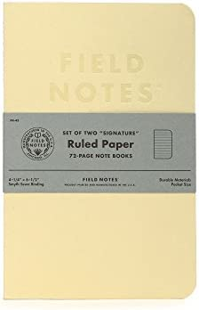 Cream with Ruled Paper Field Notes Signature Series Notebook 2-Pack 4.25 x 6.5-72 Pages