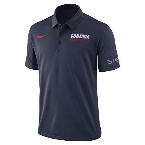 Nike Gonzaga Bulldogs Basketball Dri-Fit Elite Polo Shirt (XX-Large)