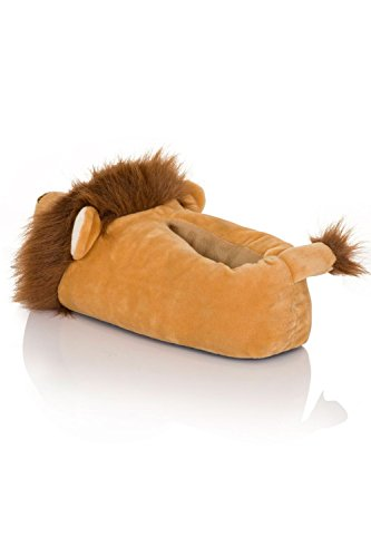 Loungeable Boutique, Mujer Chica Cómodo Novedad Animal Pantuflas Rory Lion