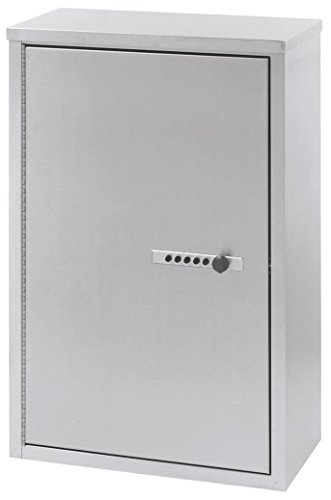 """Omnimed 181680 Large Double Door Narcotic Cabinet with Combo Lock and 4 shelves, 8""""/Deep"""