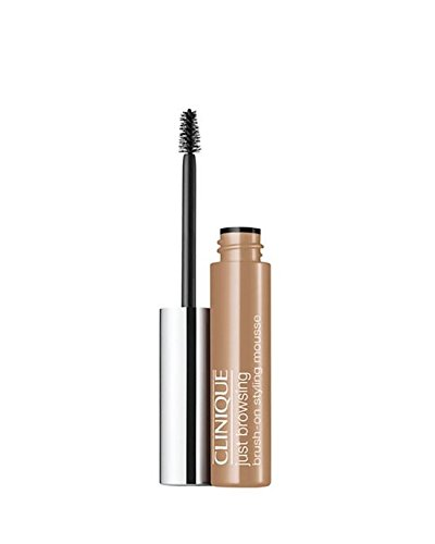 Clinique Just Browsing Brush-On Styling Brow Mousse, 01 Blonde, Full Size .07oz/2ml In (Clinique Eye Brush)