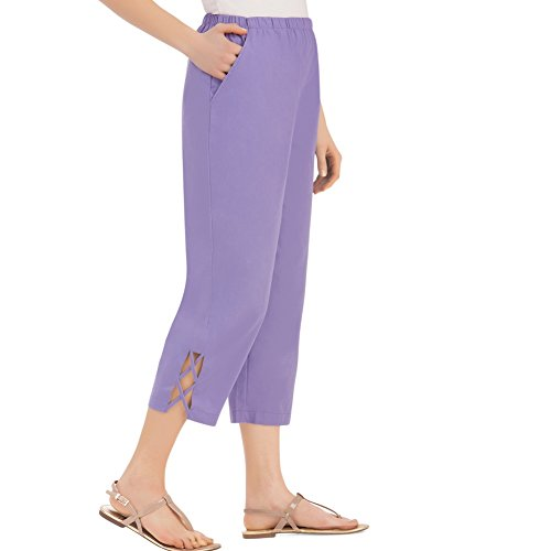 Womens Lattice Capri Machine Washable