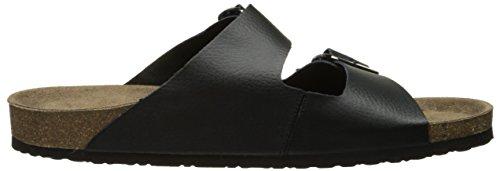Crevo Mens Sedono Slide Sandale Noir