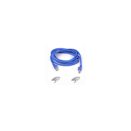 BELKIN cat5e 1ft blue patch cord rj45m/rj45m (blue) - NEW - Retail - A3L791-01-BLU