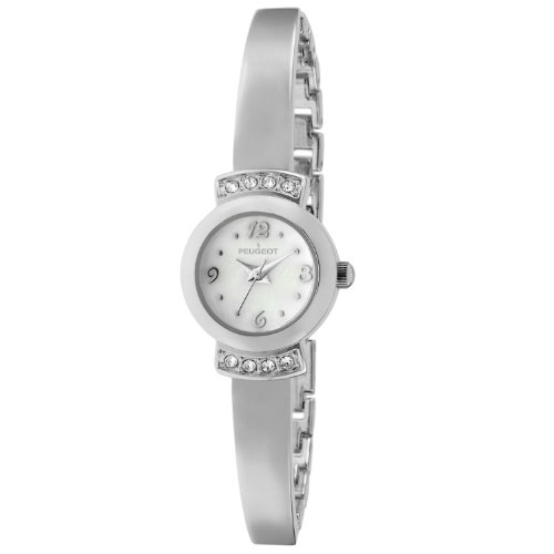 Peugeot Womes's Silver Half Bangle Bracelet Ladies Watch For Small Wrists -