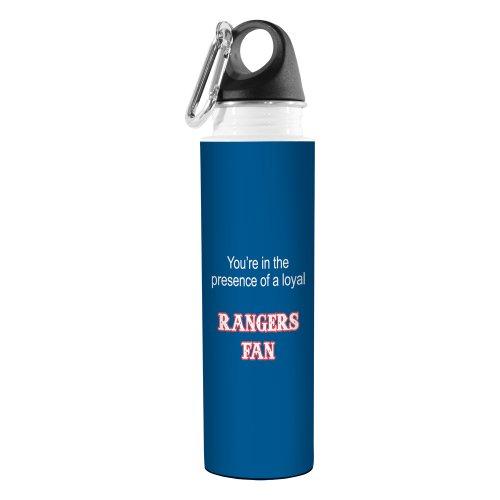Tree-Free Greetings VB48104 Baseball Fan Artful Traveler Stainless Steel Water Bottle, 18-Ounce, Rangers - Texas Rangers Water Bottle